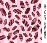 ice cream seamless pattern... | Shutterstock .eps vector #601197200