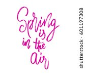 spring in the air postcard.... | Shutterstock .eps vector #601197308