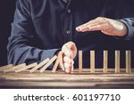 protecting assets from domino...   Shutterstock . vector #601197710