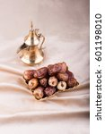 premium dates with arabic... | Shutterstock . vector #601198010