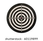 dartboard isolated on white... | Shutterstock . vector #60119899
