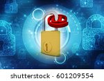 3d rendering e mail symbol with ... | Shutterstock . vector #601209554