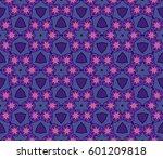 ornamental flower design.... | Shutterstock .eps vector #601209818