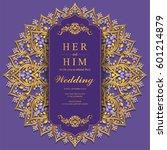 wedding invitation card... | Shutterstock .eps vector #601214879
