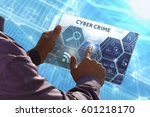 Small photo of Business, Technology, Internet and network concept . Young business man working on the tablet of the future , select the virtual screen: Cyber crime
