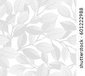 floral seamless pattern. vector ... | Shutterstock .eps vector #601222988