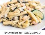 pasta with shrimp dinner dish... | Shutterstock . vector #601228910