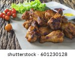oven roasted chicken wings | Shutterstock . vector #601230128