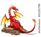 dragon fire animal cartoon.... | Shutterstock .eps vector #601231700