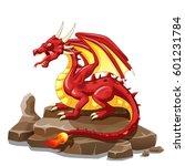 dragon fire animal cartoon | Shutterstock . vector #601231784