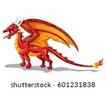 dragon fire animal cartoon.... | Shutterstock .eps vector #601231838