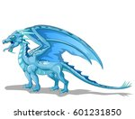 blue ice dragon | Shutterstock . vector #601231850