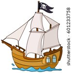 pirate ship | Shutterstock .eps vector #601233758
