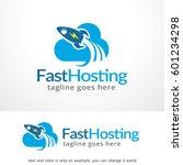 fast hosting logo template... | Shutterstock .eps vector #601234298