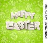happy easter greeting... | Shutterstock .eps vector #601240400