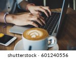 view of freelancer work | Shutterstock . vector #601240556