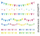 set of hand drawn buntings... | Shutterstock .eps vector #601246979