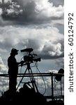 silhouette of a tv cameraman... | Shutterstock . vector #60124792