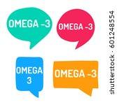 omega 3. hand drawn speech...   Shutterstock .eps vector #601248554