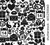 seamless pattern st. valentines ...   Shutterstock . vector #601250060