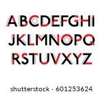 futuristic font. cosmic font.... | Shutterstock .eps vector #601253624