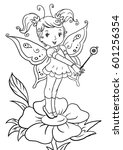 Little Winged  Fairy Coloring...