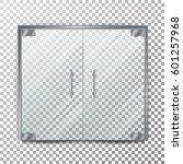 glass door transparent vector.... | Shutterstock .eps vector #601257968