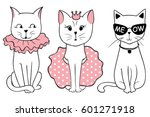 vector series with cute fashion ... | Shutterstock .eps vector #601271918