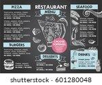restaurant cafe menu | Shutterstock .eps vector #601280048