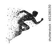 running man. sport fitness... | Shutterstock .eps vector #601280150