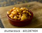 closeup of an earthenware bowl... | Shutterstock . vector #601287404