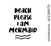 "card with inscription ""beach... | Shutterstock .eps vector #601288970"