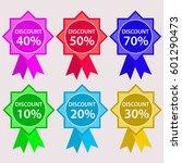 discount label sign color set | Shutterstock .eps vector #601290473