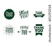 thank you set of green badges... | Shutterstock .eps vector #601292018