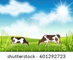 vector illustration of cow... | Shutterstock .eps vector #601292723