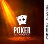 shining casino banner poster.... | Shutterstock .eps vector #601294568