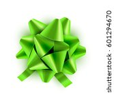 green bow ribbon isolated.... | Shutterstock .eps vector #601294670