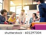 multi ethnic business person... | Shutterstock . vector #601297304