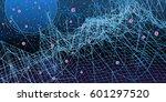 dark digital background with... | Shutterstock .eps vector #601297520