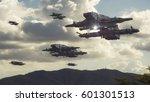 3d rendering. spaceship ufo...   Shutterstock . vector #601301513