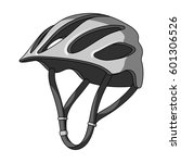 protective helmet for cyclists. ... | Shutterstock .eps vector #601306526