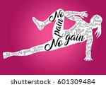 fitness motivation quotes | Shutterstock . vector #601309484