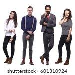 group of full body people | Shutterstock . vector #601310924