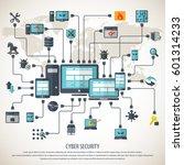 cyber security    Shutterstock .eps vector #601314233