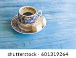 Coffee Time  Porcelain Cup Wit...