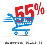 check out cart sale icon symbol ... | Shutterstock .eps vector #601319498