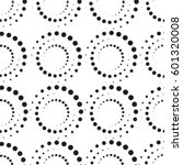 seamless dots pattern. vector... | Shutterstock .eps vector #601320008