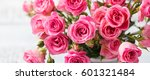 rose flowers in vase. beautiful ... | Shutterstock . vector #601321484