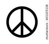 peace symbol black. | Shutterstock .eps vector #601325138