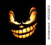scary jack o lantern in the... | Shutterstock .eps vector #60132613